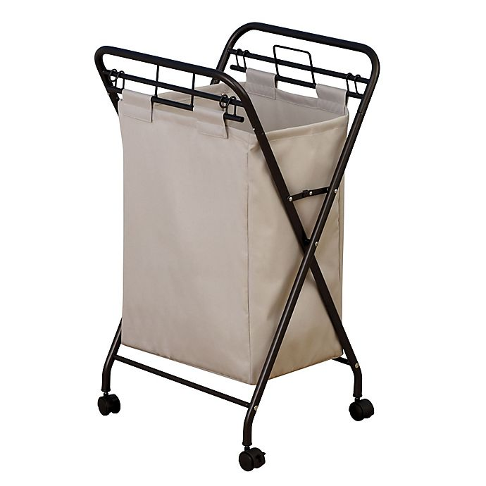 Alternate image 1 for Household Essentials® Rolling Laundry Hamper