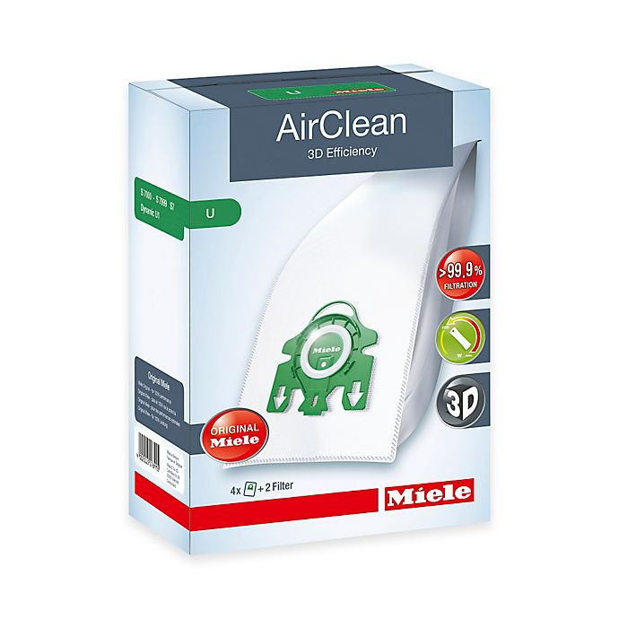 Alternate image 1 for Miele AirClean U Dustbag (Set of 4)