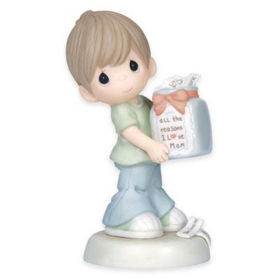 "Precious Moments® ""All the Reasons I Love Mom"" Boy Figurine   Bed Bath & Beyond"