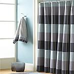 Croscill® Fairfax 84-Inch x 72-Inch Extra Long Shower Curtain in Slate