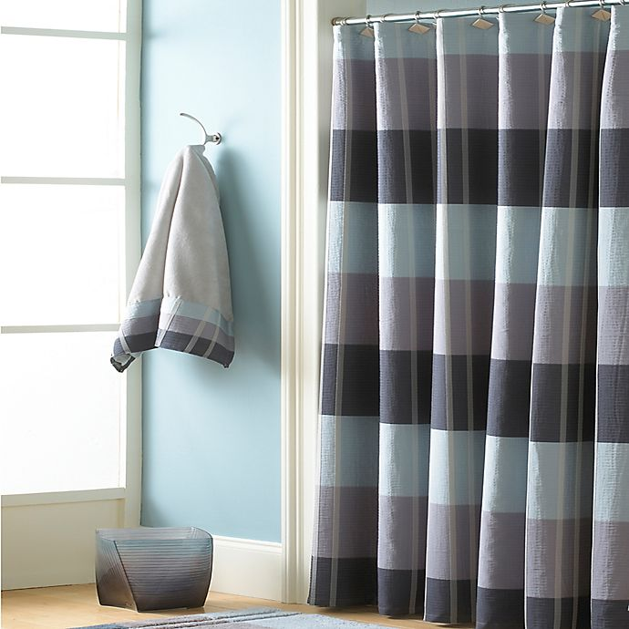 Alternate image 1 for Croscill® Fairfax 84-Inch x 72-Inch Extra Long Shower Curtain in Slate