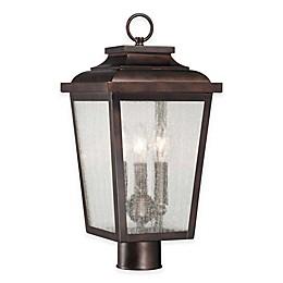 Minka Lavery® Irvington Manor 3-Light Post-Mount Outdoor Lantern in Chelsea Bronze