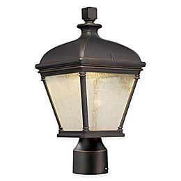 Minka Lavery® Lauriston Manor Post-Mount Outdoor Light in Oil Rubbed Bronze