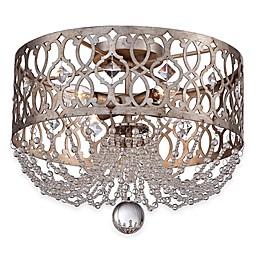 Minka Lavery® Lucero 4-Light Flush-Mount Ceiling Fixture in Silver