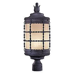 Minka Lavery® Mallorca™ Post-Mount Outdoor 1-Light Lantern in Iron
