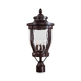 The Great Outdoors® Merrimack™ 3-Light Post-Mount Outdoor Light in Bronze