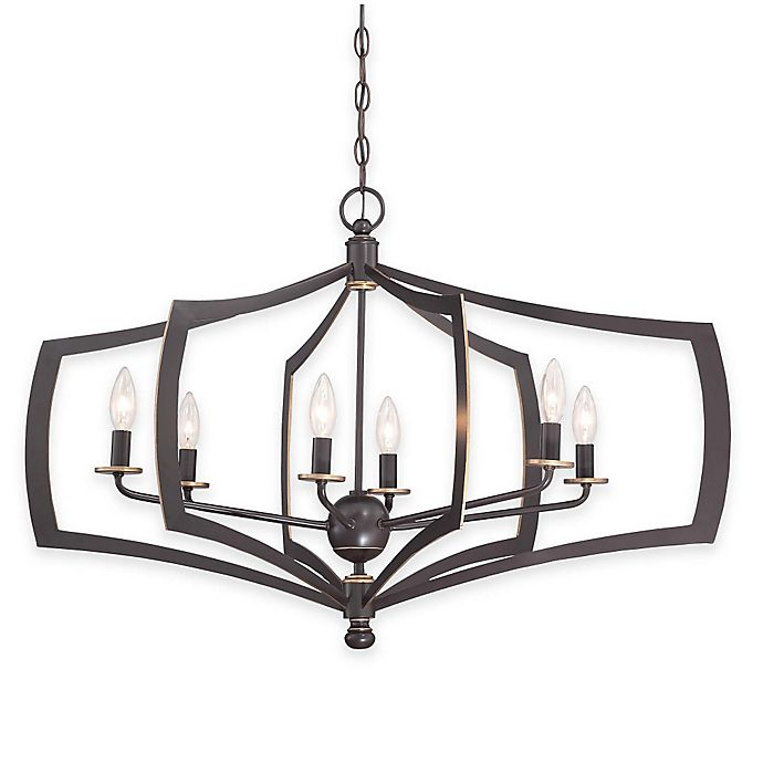 Alternate image 1 for Minka Lavery® Middletown 6-Light Chandelier in Downtown Bronze