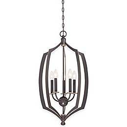 Minka Lavery® Middletown 5-Light 30-Inch Foyer Pendant in Downtown Bronze