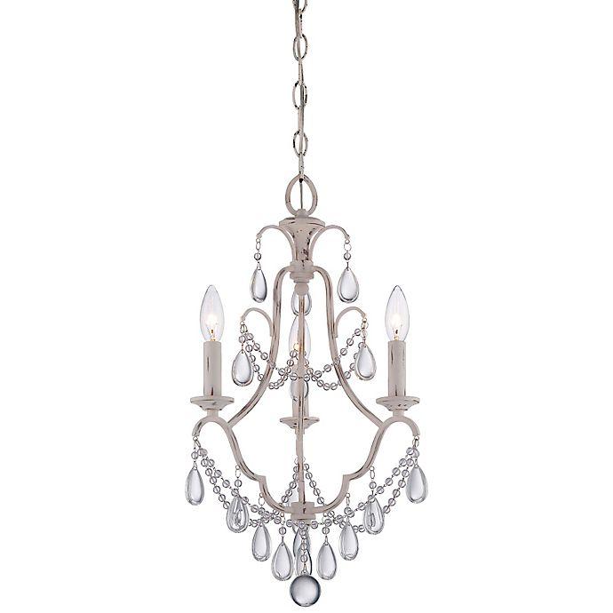 Alternate image 1 for Minka Lavery® 3-Light Mini Chandelier in Provencal Blanc