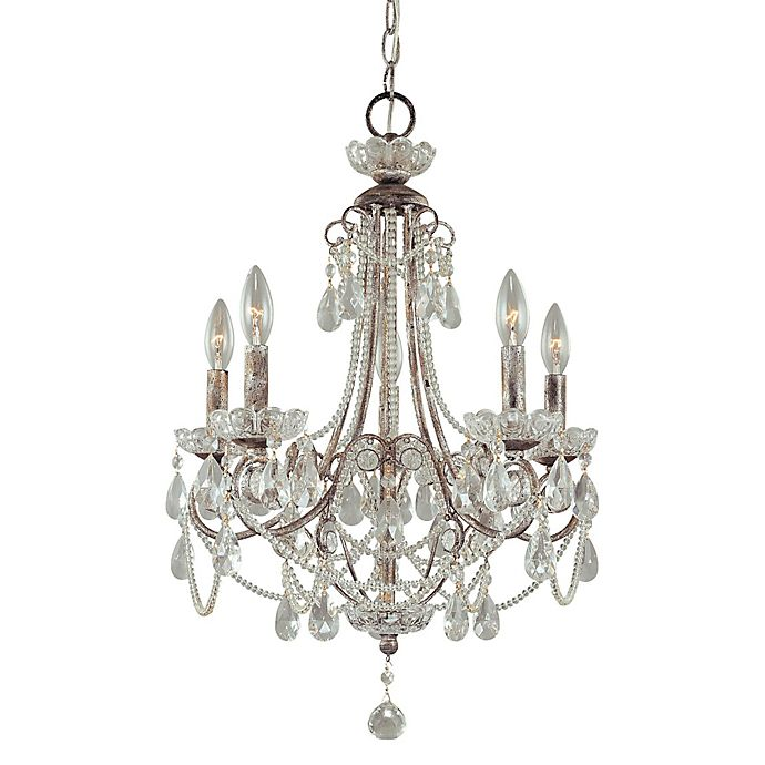 Alternate image 1 for Minka Lavery® 5-Light Mini Chandelier in Distressed Silver