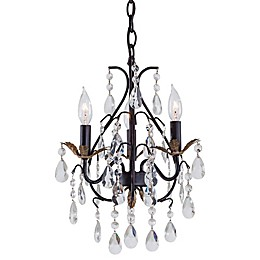 Minka Lavery® 3-Light Mini Chandelier in Walnut
