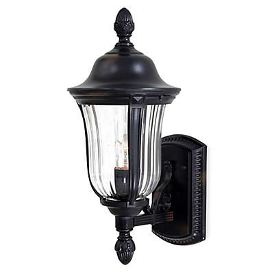 Minka Lavery® Morgan Park™ Wall-Mount Outdoor 17.5-Inch Light in Black
