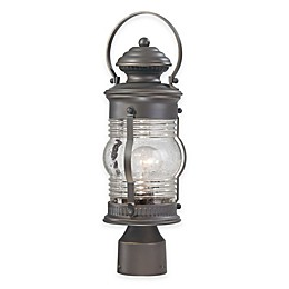 The Great Outdoors® Lynnfield Post-Mount Lantern in Oil Rubbed Bronze