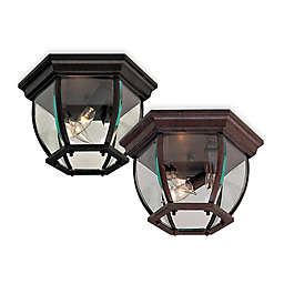 The Great Outdoors® 3-Light Flush-Mount Ceiling Fixture with Glass Shade