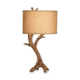 Pacific Coast® Lighting Beachwood 31-Inch Table Lamp with Burlap Shade
