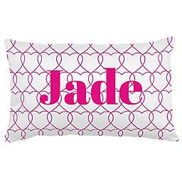 Carousel Designs® Sweetheart Lumbar Pillow in Fuchsia