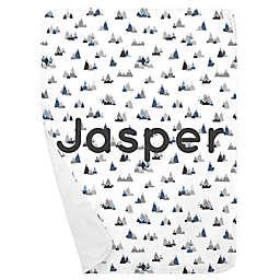 Carousel Designs® Mountains Receiving Blanket in Blue/Grey