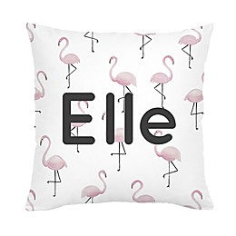 Carousel Designs® Pink Flamingos Square Throw Pillow