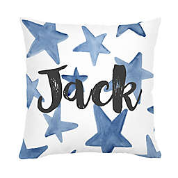 Carousel Designs® Large Stars Square Throw Pillow in Blue