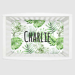 Carousel Designs® Painted Tropical Mini Fitted Crib Sheet in Green/White