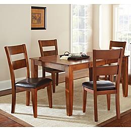 Steve Silver Co. Mango Standard Height 5-Piece Dining Set in Cherry