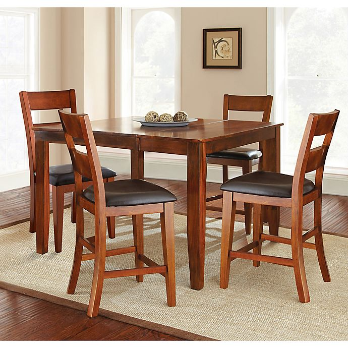 Steve Silver Co Mango Counter Height Dining Set In Cherry