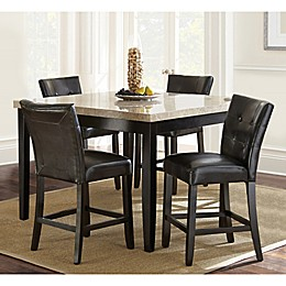 Steve Silver Co. Monarch 5-Piece Counter Height Dining Set in Dark Cherry