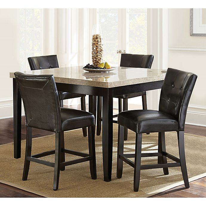 Alternate image 1 for Steve Silver Co. Monarch 5-Piece Counter Height Dining Set in Dark Cherry