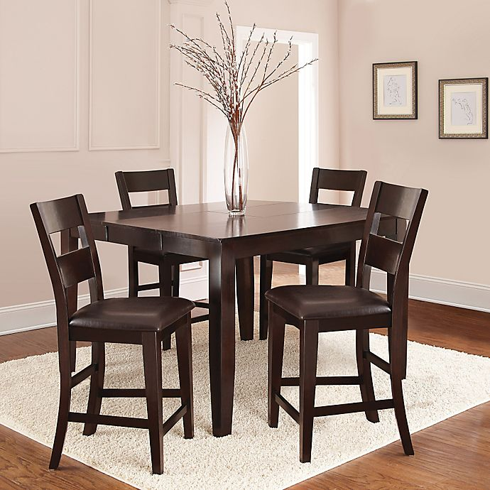 Steve Silver Co Victoria Counter Height Dining Set In Dark