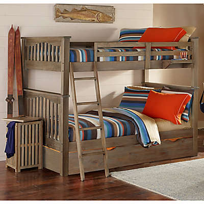 Hillsdale Kids and Teen Highlands Harper Bunk Full/Full Bed with Trundle in Driftwood