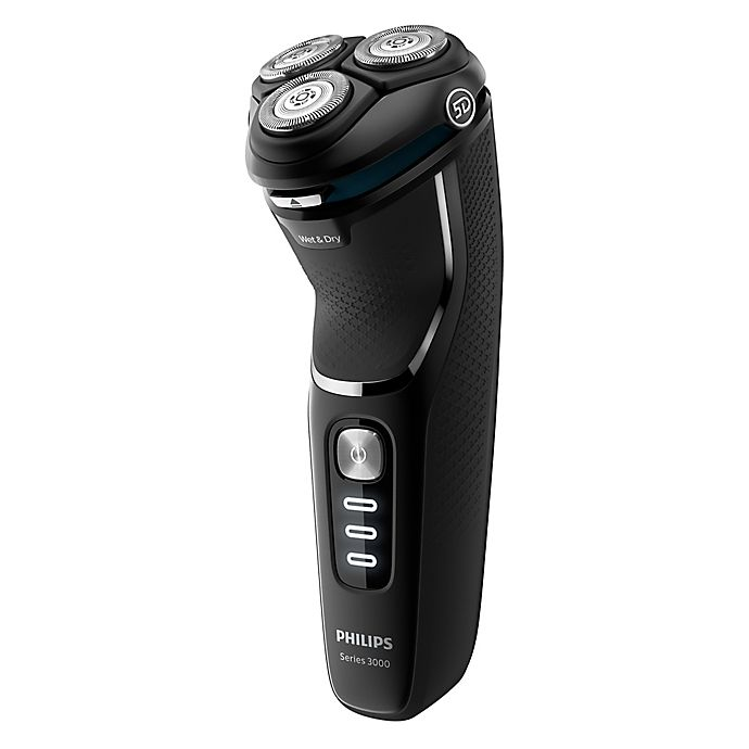 Alternate image 1 for Philips Shaver Series 3000 Wet or Dry Electric Shaver in Black