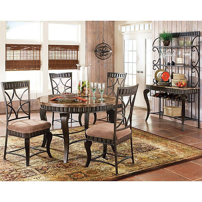 Steve Silver Co. Hamlyn Dining Set in Marble | Bed Bath & Beyond