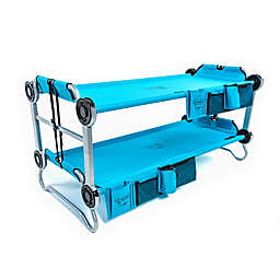 KID-O-BUNK by Disc-O-Bed with Organizers in Teal Blue