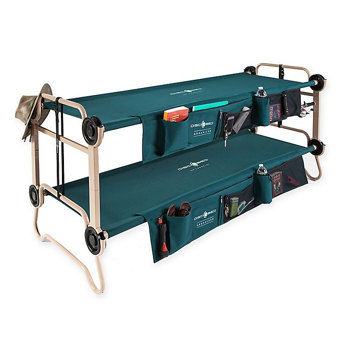 Alternate image 1 for Disc-O-Bed with Side Organizers in Green/Tan