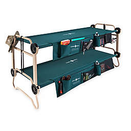 Disc-O-Bed with Side Organizers in Green/Tan