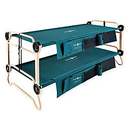 Extra Large Disc-O-Bed with Side Organizers in Green/Tan
