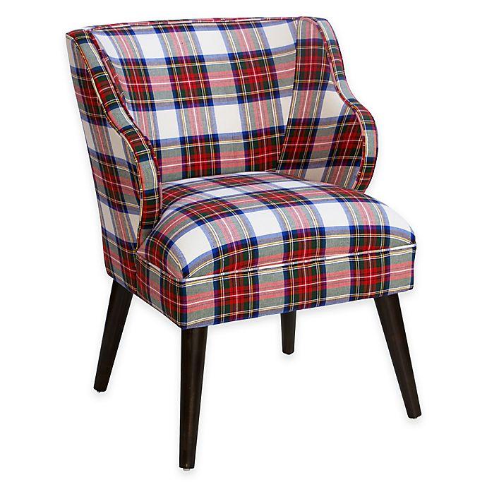Brilliant Skyline Furniture Wesley Plaid Chair Bed Bath Beyond Machost Co Dining Chair Design Ideas Machostcouk