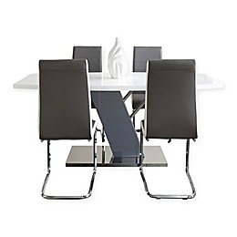 Steve Silver Co. Nevada 7-Piece Dining Set in Chrome
