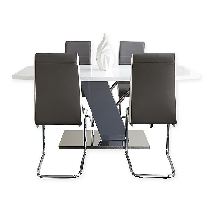 Alternate image 1 for Steve Silver Co. Nevada 7-Piece Dining Set in Chrome