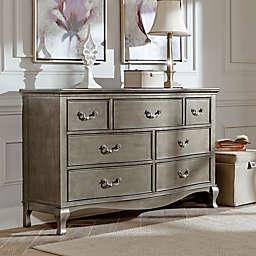 Hillsdale Kids and Teen Kensington 7-Drawer Double Dresser in Antique Sliver