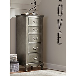 Hillsdale Kids and Teen Kensington 5-Drawer Tall Chest in Antique Sliver