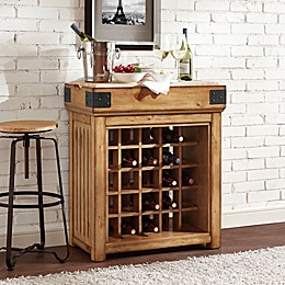 Crosley Bistro 25-Bottle Wine Island in Natural