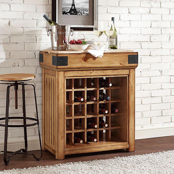 Crosley Furniture Roots Rack Natural Industrial Kitchen: Crosley Bistro 25-Bottle Wine Island In Natural
