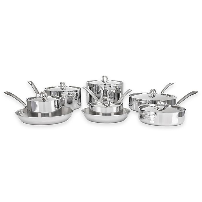 Alternate image 1 for Viking® 3-Ply Stainless Steel 14-Piece Cookware Set