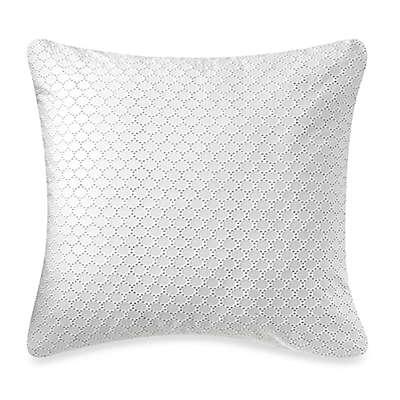 Barbara Barry® Lace Crystal European Pillow Sham in Glacier