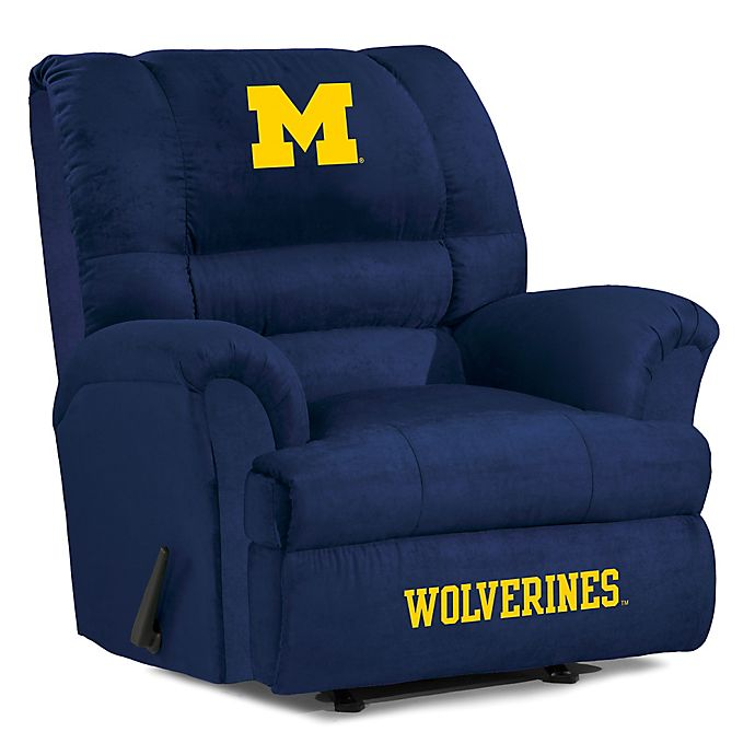 Alternate image 1 for University of Michigan Big Daddy Microfiber Recliner