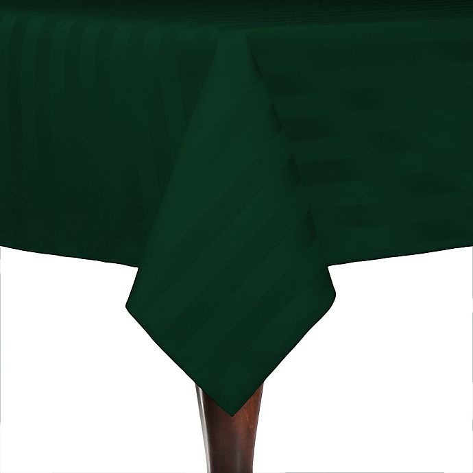 Alternate image 1 for Poly-Stripe 84-Inch x 84-Inch Square Indoor/Outdoor Tablecloth in Forest