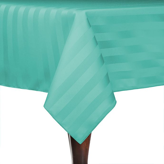 Alternate image 1 for Poly-Stripe 72-Inch x 72-Inch Square Indoor/Outdoor Tablecloth in Caribbean