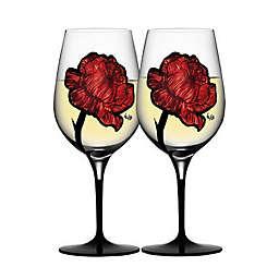 Kosta Boda Tattoo Wine Glasses (Set of 2)