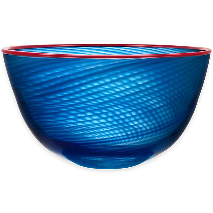 Alternate image 1 for Kosta Boda 11.5-Inch Red Rim Bowl in Blue